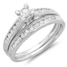 cheap gold wedding rings cheap bridal ring set 1 carat on 10k gold
