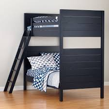 Bunk Bed Pic by Uptown White Twin Over Twin Bunk Bed The Land Of Nod