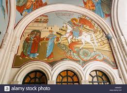 tbilisi georgia may 20 2016 the arched fresco wall murals on tbilisi georgia may 20 2016 the arched fresco wall murals on biblical story the interior of kashveti church of st george georgian orthodox ch