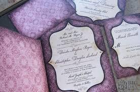Purple Wedding Invitations Vintage Goth Pattern And Window Framed Wedding Invitation Set