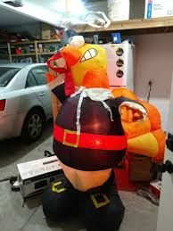 gemmy thanksgiving 8 ft pilgrim turkey airblown lights up