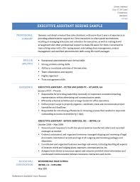 Excellent Administrative Assistant Resume Executive Assistant Resume Example Sample