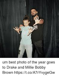 Best Drake Memes - um best photo of the year goes to drake and millie bobby brown