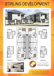 multi unit home plans unit or quad development of 2 storey townhouses
