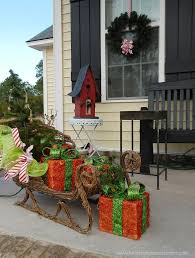 Christmas Outdoor Decorations Sleigh by Top 40 Outdoor Christmas Decoration Ideas From Pinterest