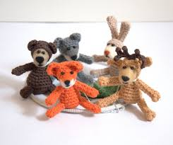Baby Deer Nursery Crochet Woodland Animals Mobile Baby Nursery Mobile Rabbit Fox