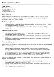med surg resume examples