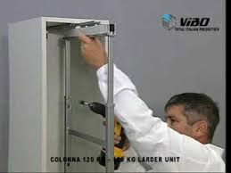 soft close mechanism for cabinet doors centre mounting larder unit with soft close doors from hpp youtube