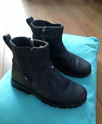 big discount timberland zip up black leather ankle boot mens shoes