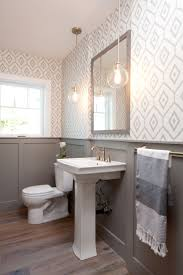 bathroom with wallpaper ideas bathroom top best small bathroom wallpaper ideas on pinterest half