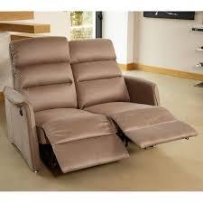 canapé 2 places electrique canapé relax électrique 2 places marron cendré softy l 140 x l
