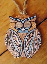owl be home for wooden owl ornament by havokdesigns