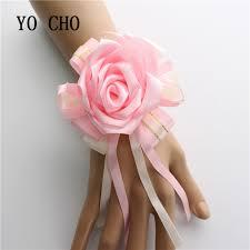 Wrist Corsage Bracelet Online Shop Yo Cho Wrist Corsage Bracelet Silk Rose Sisters