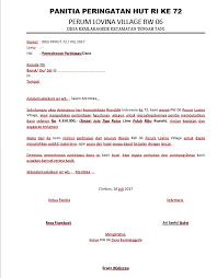 membuat proposal bazar contoh surat permohonan bantuan dana dan proposal kegiatan hut ri