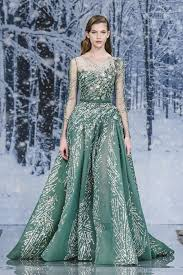 ziad nakad this emerald green gown from ziad nakad with all the chic details