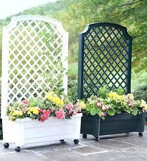 garden trough planter with trellis garden trellis with planter box