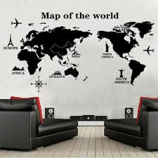 online buy wholesale decal wall quotes from china decal wall black large world map wall sticker decal 60 120cm big vinyl wall stickers home decor