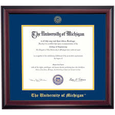 of michigan diploma frame of michigan graduation diploma frames by college ocm