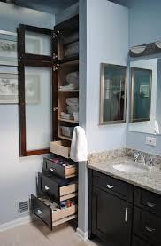 innovative bathroom linen cabinet ideas about space saving cabinets