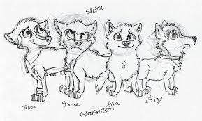 wolf pack sketch by thebestbadnewz on deviantart