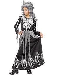 child skeleton queen costume 114662 fancy dress ball