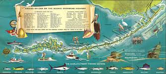 Map Of Treasure Island Florida by Key West Retro Style