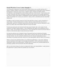 community social worker cover letter