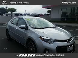 used toyota 2015 used toyota corolla 4dr sedan cvt s plus at kearny mesa