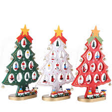 diy cartoon christmas tree decorations desk ornaments for home