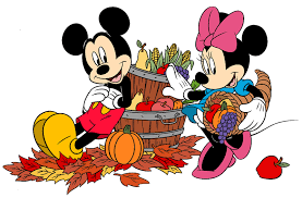 thanksgiving minnie and mickey mouse and friends clip cliparts