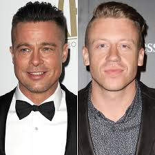 brad pitt u0027s haircut looks like macklemore u0027s popsugar celebrity