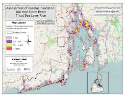 map rhode island rhode island e911 exposure assessment ri shoreline change