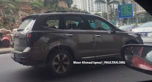 subaru forester 2018 colors spied subaru forester facelift testing ckd possible