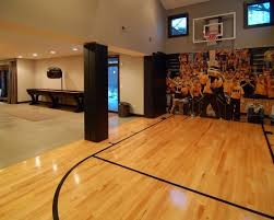 Best Basketball Court  Home Gym Images On Pinterest Indoor - Home basketball court design