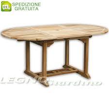 tavolo ovale legno tavolo ovale allungabile da giardino 120 180x100 in legno teak