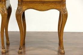 Oak End Tables Sold Pair Of Country Oak 1930 S Vintage Nightstands Or