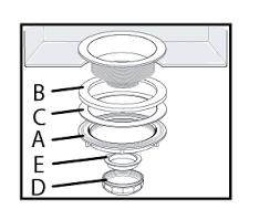 PP Leakproof Turn Seal Kitchen Sink Strainer Stainless - Stainless steel kitchen sink strainer