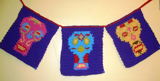 crochet parfait day of the dead banner day of the dead banner