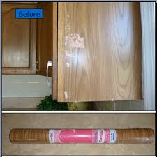 Kitchen Cabinet Liners by Quick Oak Cabinet Fix With Tiny Budget Oak Kitchen Cabinets
