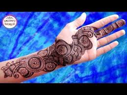 gulf flower henna mehndi design tattoo step by step mehendi