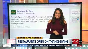 which restaurants will be open during thanksgiving turnto23
