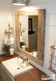 bathroom cabinets rustic vanity mirror distressed white mirrors