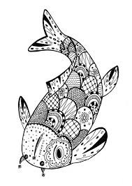 a beautiful fish for a coloring page very u0027zentangle u0027 from the