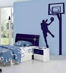 Bedroom Wa by Blue Wall Themes With Nba Basketball Wall Murals For Boys Bedroom