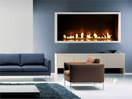 living room contemporary mounted electric fireplace with blue