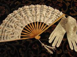 lace fans lace parasols tassels lace fan and crochet gloves