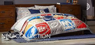 Duvet Covers For Single Beds Hockey Bedding U0026 Nhl Bedding Pbteen