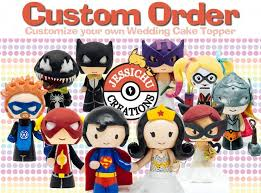marvel cake toppers wedding cake topper custom personalized figurine marvel dc
