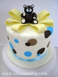 cocoa u0026 fig teddy bear baby shower cake u0026 cupcakes