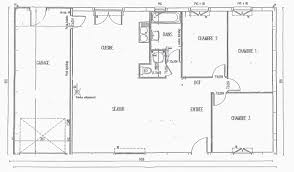 plan maison de plain pied 3 chambres plan maison plain pied en l unique plan maison 90m2 plainpied 3